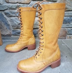 Frye RARE campus lace up boots